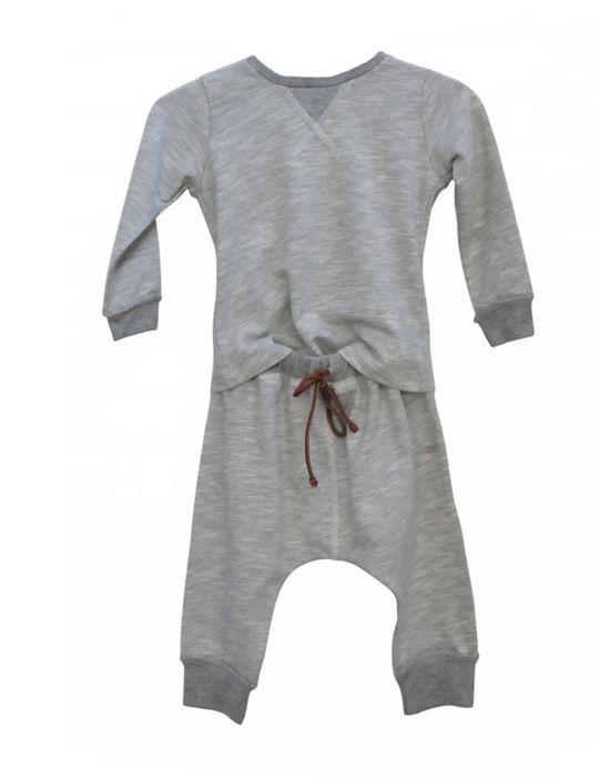 Baby Boy Grey Sweat Pant and Sweatshirt Set - CUTE!!