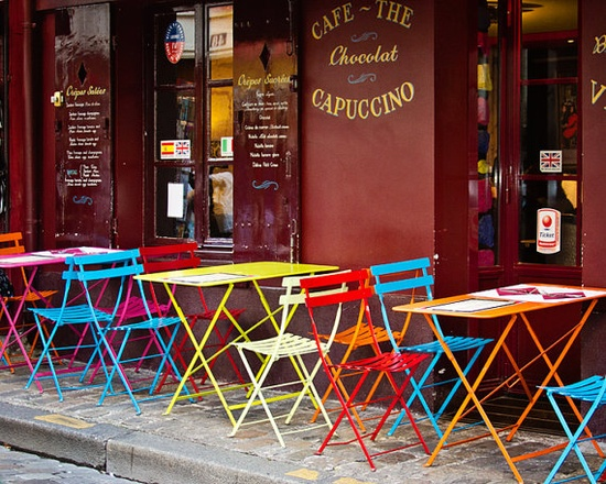 {Cafe Color} Montmarte, photo by Melanie Alexandra
