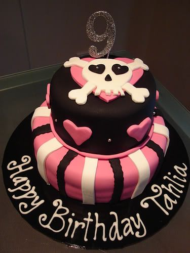 rock n roller girl…i have this cricut cartridge!!!  fondant birthday cakes for
