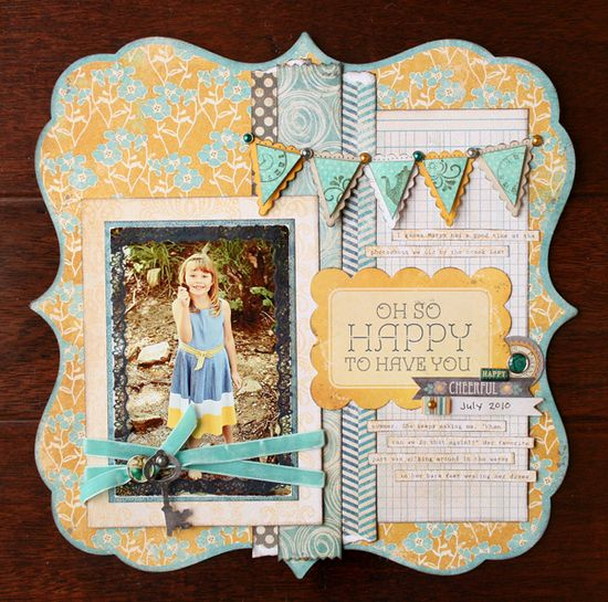 nice divided layout with banner   #scrapbook