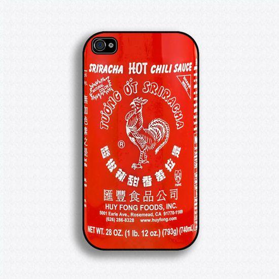Sriracha hot sauce iPhone case!