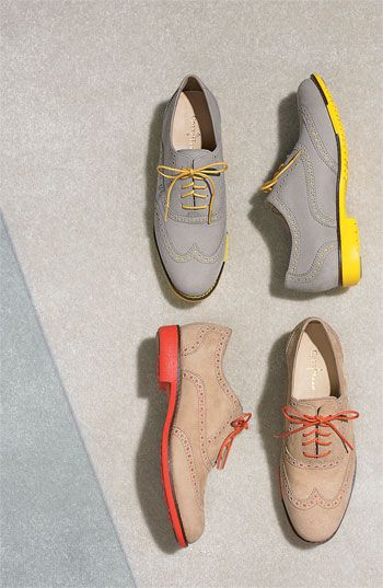 Yes to bright oxfords!