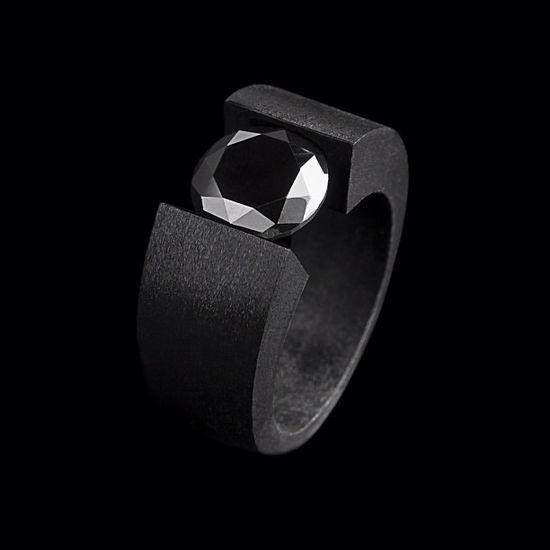 Anil Arjandas Black Diamond ring