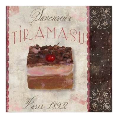 Paris Patisserie, Tiramasu, Vintage Posters by yesterdaysgirl