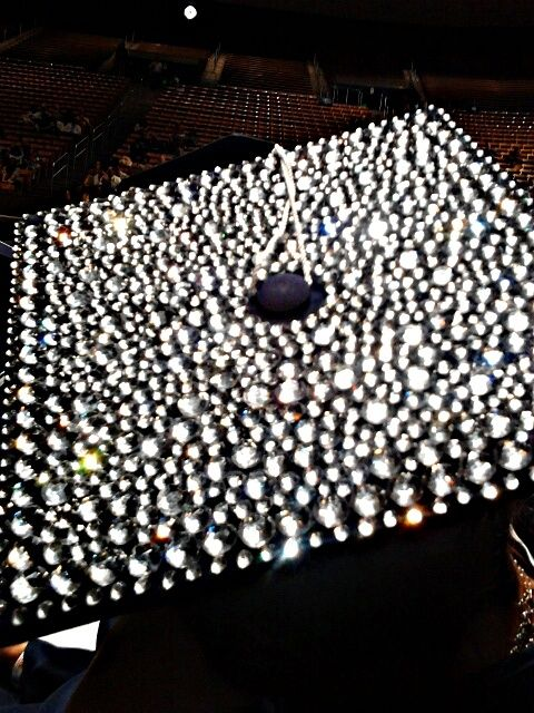 rhinestone graduation cap! | How Do It Info
