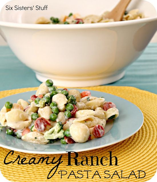 Six Sisters' Stuff: Creamy Ranch Pasta Salad Recipe
