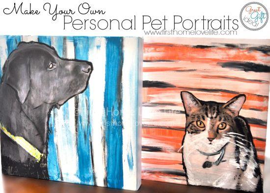DIY pet portraits!