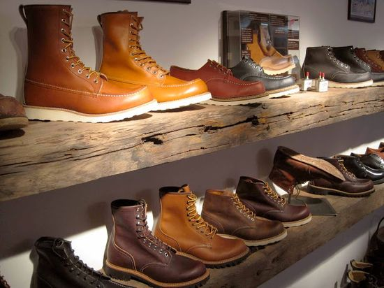 Buckets & Spades - Men's Fashion, Design and Lifestyle Blog: Store Visit...Red Wing Shoe Store