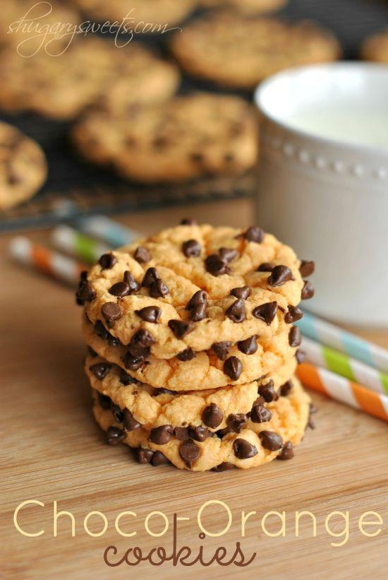 Chocolate Orange Cookies #ShugarySweets