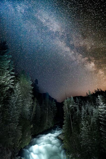 Cheakamus River & Milky Way   - Photo by Jon Beard near Whistler, B.C.