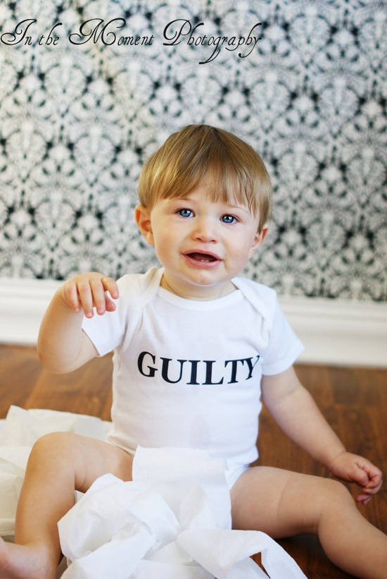 GUILTY Funny Baby Onesie  Toddler Tee also by ShopTheIttyBitty, $18.00