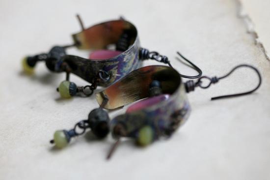 Village of Water Mills earrings. $ 40.00, via Etsy.