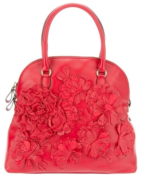 Valentino Leather Floral Bag