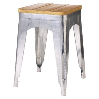 threshold industrial chic stool