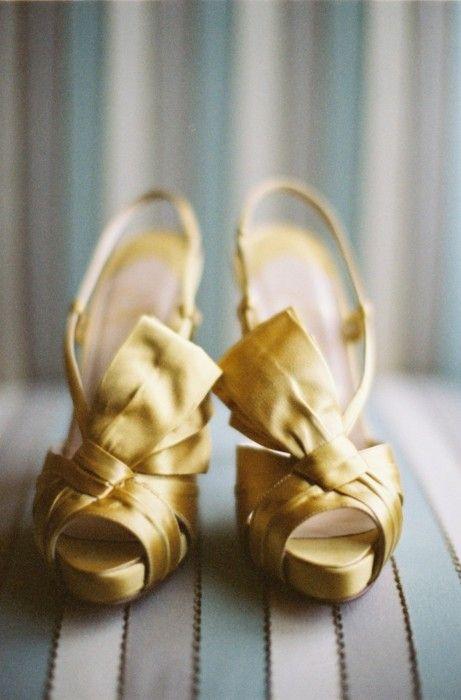 shiny gold Louboutins