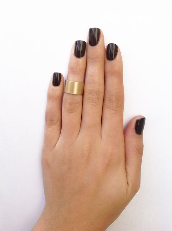 Cuff matt gold knuckle ring - cuff gold midi ring size 3 on Etsy, $15.99