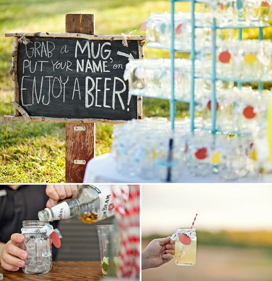 Rustic picnic wedding