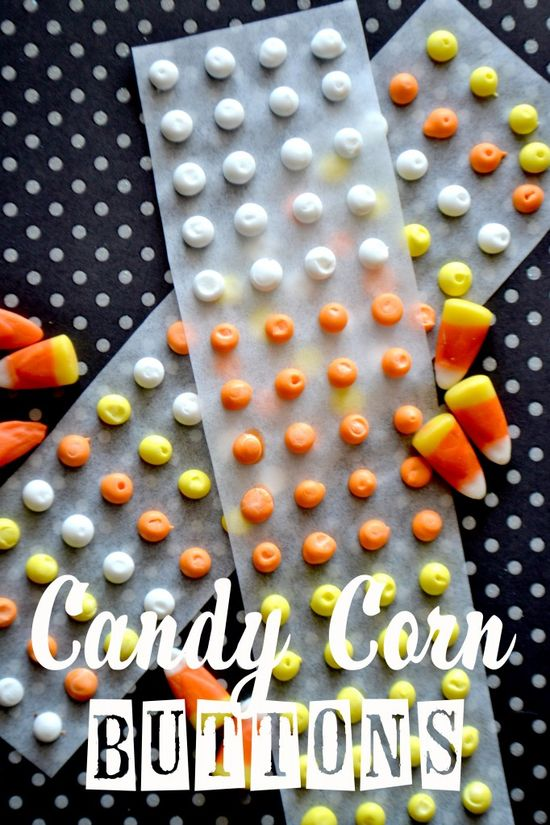 How to make candy corn buttons.  www.pinkcakeplate...