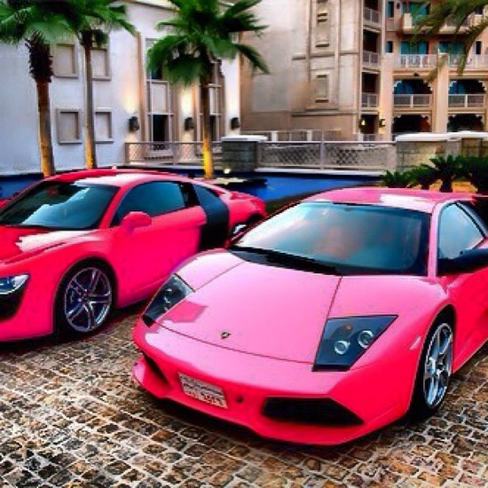 pink sports cars... Barbie 2.0