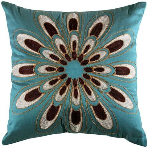 I adore these pillows. Going to do this teal/aqua and brown combo in the living