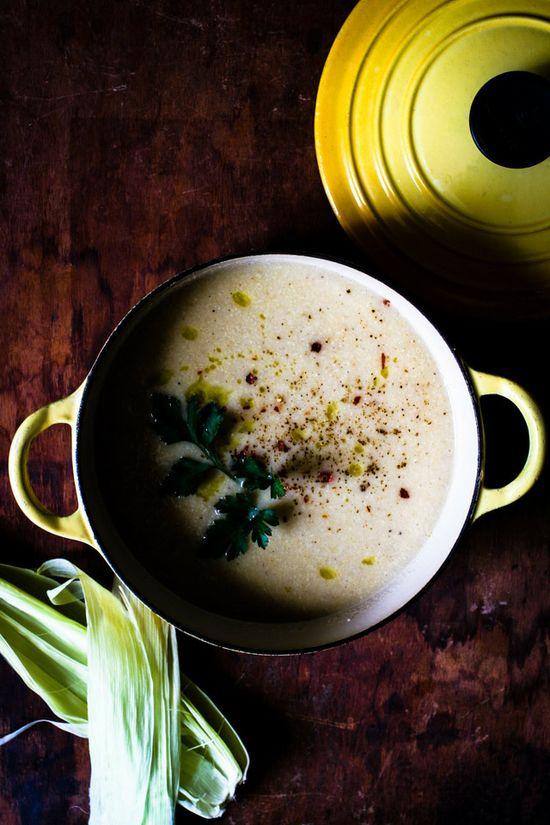 Sweet White Corn Soup
