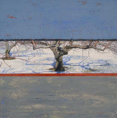 "Saatchi Art Artist Suzanne Ferland; Painting, ""Pommier bleu"" #art"