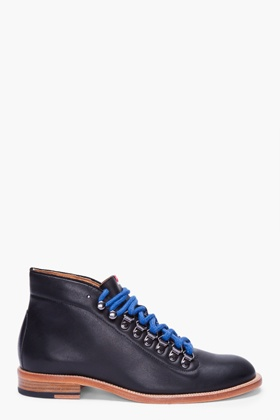 SHIPLEY & HALMOS Black Leather Nederland Boots