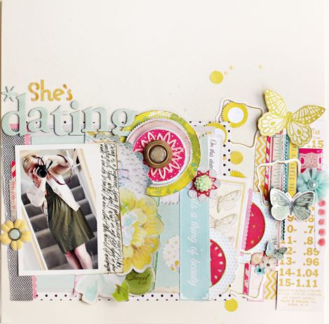 lovely scrapbook page