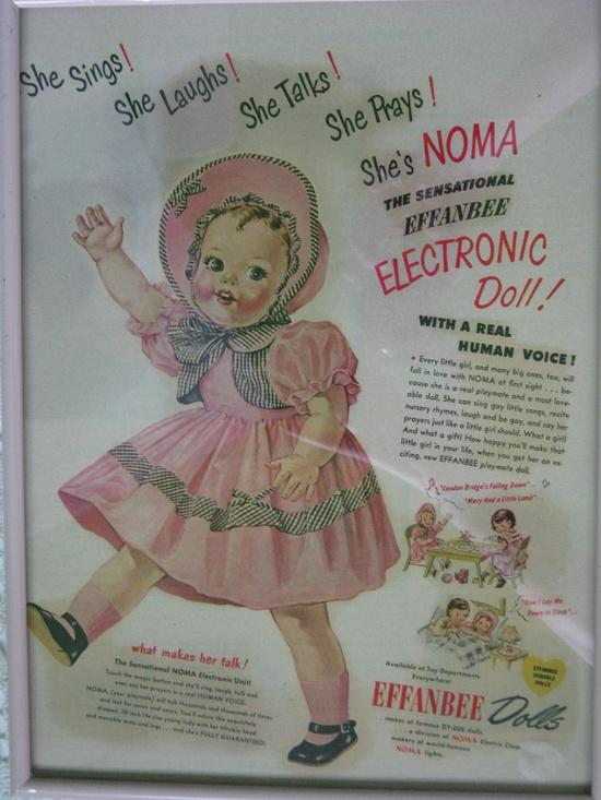 Vintage Doll Effanbee Advertisment Framed C.1950 By Gatormom13. via Etsy.