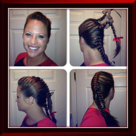 Triple-split French braid