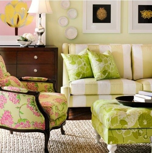 loving the colors and the patterns. stripes and floral and pink and green. could