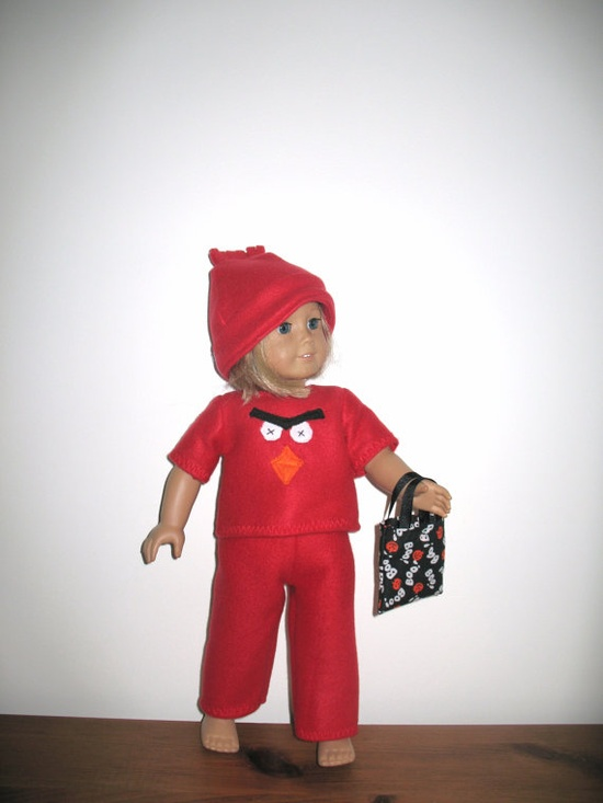 Doll Clothes for 18 Inch Dolls American Girl Dolls, Angry Bird Inspired Halloween Costume