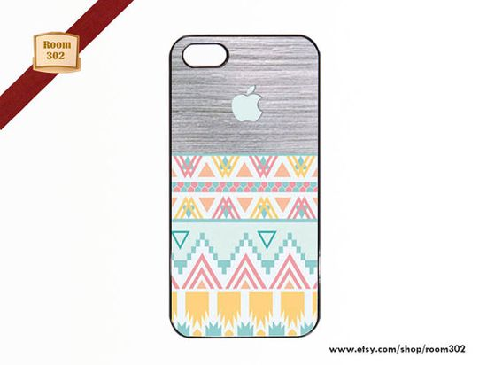 Geometric Aztec with Wood iPhone Cover for iPhone 5 / by Room302, $15.50