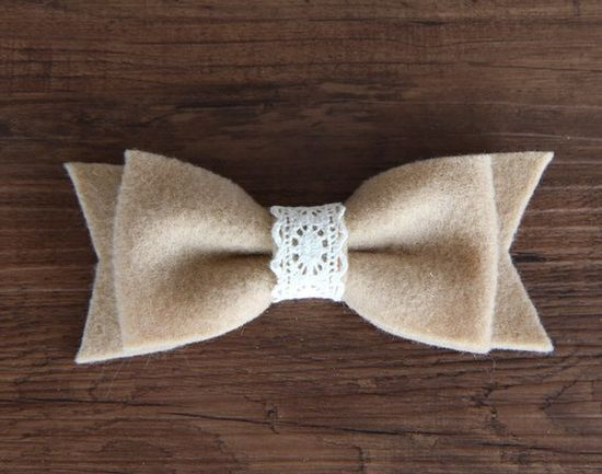 Felt and lace bow