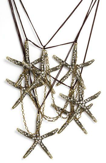 Sequin 'Anita' Starfish Statement Necklace