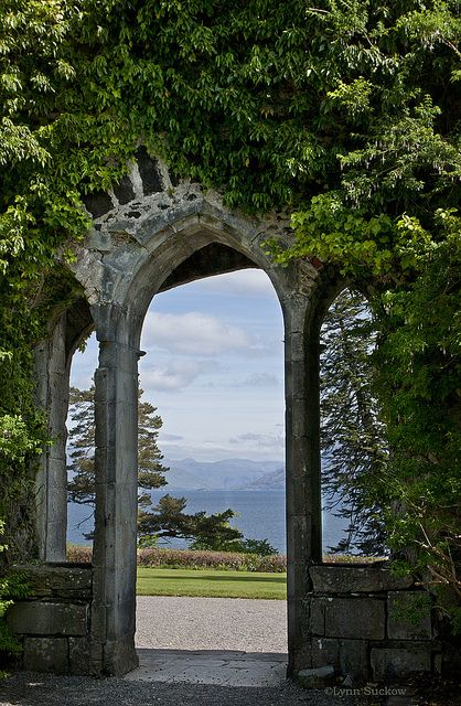 Through the arch, Armadale castle, Isle of Skye