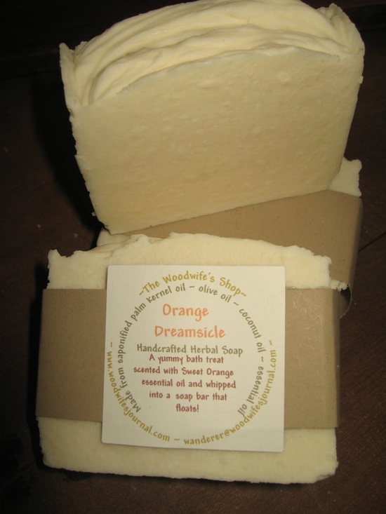 Dreamsicle Soap by TheWoodwifesShop on Etsy, $4.00