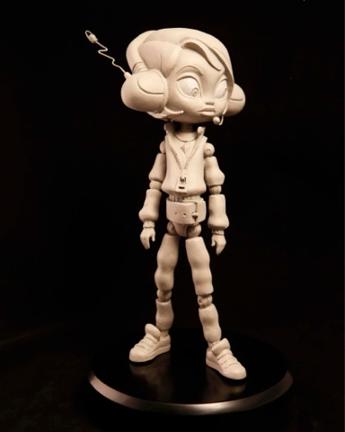 Red Giant Studios. Sculpted by Brooke Howell; character design by Paul Sullivan