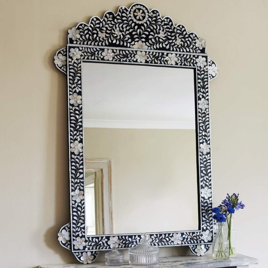 InStyle-Decor.com Beverly Hills Beautiful Mother of Pearl Bone Inlay Mirror Trending Luxury Hollywood Home Decor Enjoy & Happy Pinning