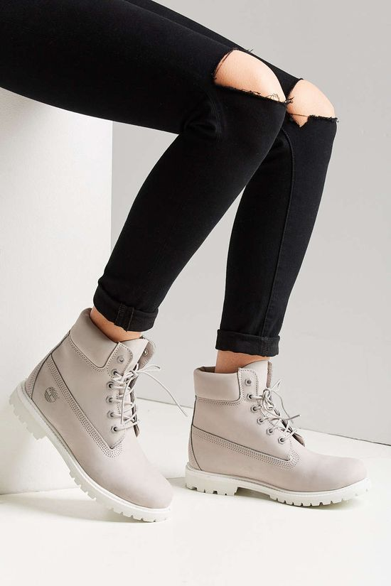 timberland pour femme blanche