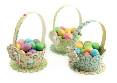 Easter Baskets by Pebbles in my Pocket made from Crate Paper Pretty Party