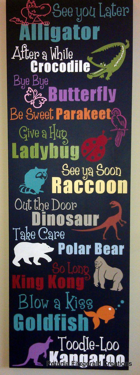 LOVE this...by my front door.