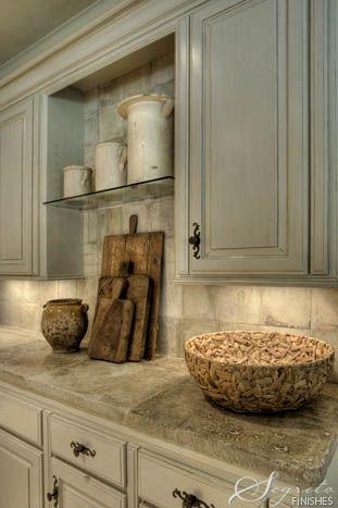 Kitchen cabinet color...I love it!