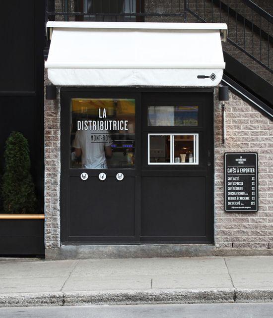 La Distributrice Coffee Montreal Canada / Gabriel Lefebvre and Rachel Lecompte