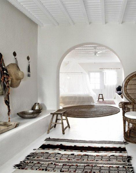 Bohemian aesthetic boutique hotel interior design