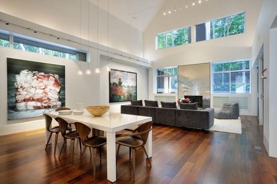 Wood Flooring Modern Hill House Interior Design   #KBHome