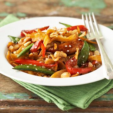 Asian-Style Chicken and Pasta