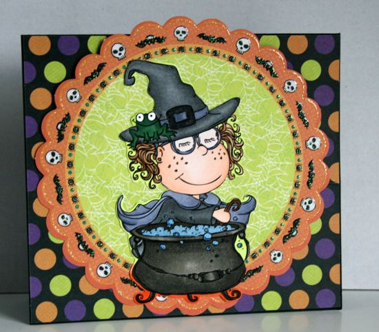 Adorable handmade Halloween card by rbowen on Etsy, $4.00