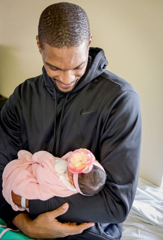 Chris Bosh & his wife welcomed a baby girl named Dylan Skye!