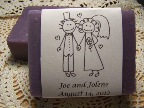 50 wedding favors soaps - regular size - Shea butter, organic, handmade soap - personalized labels